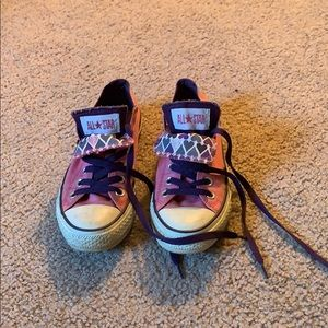 Converse All-Star double tongue low tops